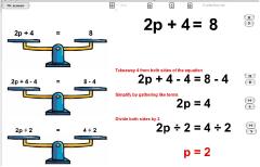 Lineare Gleichung Waage